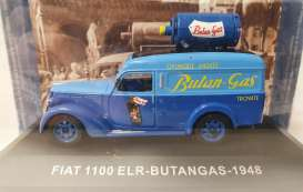 Fiat  - 1100 ELR Delivery van 1948 blue - 1:43 - Magazine Models - magkPubFi1948 | Toms Modelautos
