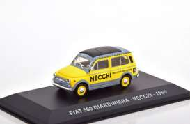 Fiat  - 1960 yellow/grey - 1:43 - Magazine Models - magkPubFi1960 | Toms Modelautos