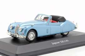 Jaguar  - XK140 light blue - 1:43 - Magazine Models - magkAt4641103 | Toms Modelautos