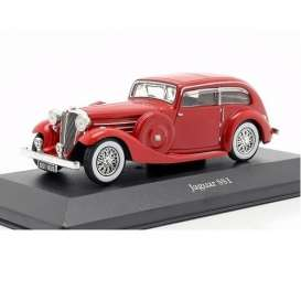 Jaguar  - SS1 red - 1:43 - Magazine Models - magkAt4641105 | Toms Modelautos