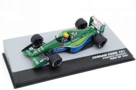 Jordan  - Ford green/blue - 1:43 - Magazine Models - magkF1Mor32 | Toms Modelautos