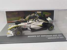 Brawn GP  - 001 white/red - 1:43 - Magazine Models - magkF1Bar23 | Toms Modelautos