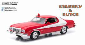 Ford  - Gran Torino *Starsky & Hutch* 1976 red/white - 1:43 - GreenLight - 86442 - gl86442 | Toms Modelautos