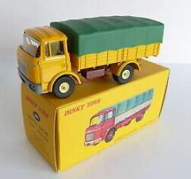 Berliet  - Camion Bache yellow/green - 1:43 - Magazine Models - 2576013 - magDT2576013 | Toms Modelautos