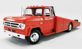 Dodge  - D300 Ramp Truck 1970 red/orange - 1:18 - Acme Diecast - 1801900 - acme1801900 | Toms Modelautos