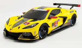 Chevrolet  - Corvette C8-R 2020 yellow/black - 1:18 - Acme Diecast - US032 - GTUS032 | Toms Modelautos