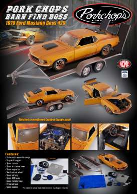Ford  - Boss 429 Mustang 1970 orange - 1:18 - Acme Diecast - 1801838 - acme1801838 | Toms Modelautos