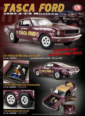 Ford  - Mustang A/FX Tasca Ford 1965 dark brown - 1:18 - Acme Diecast - 1801839 - acme1801839 | Toms Modelautos