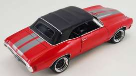 Chevrolet  - Chevelle Convertible Restomod 1970 bright red/gunmetal - 1:18 - Acme Diecast - 1805518 - acme1805518 | Toms Modelautos