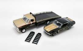 Ford  - F-350 Ramp Truck 1970 black/gold - 1:64 - Acme Diecast - 51341 - acme51341 | Toms Modelautos