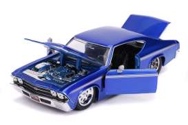 Chevrolet  - Chevelle 1969 candy blue - 1:24 - Jada Toys - 31455 - jada31455 | Toms Modelautos