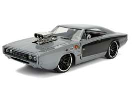 Dodge  - Charger 1969 grey/black - 1:24 - Jada Toys - 31668 - jada31668 | Toms Modelautos