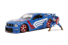Ford  - Mustang GT 2006 blue/white/red - 1:24 - Jada Toys - 31187 - jada31187 | Toms Modelautos