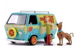 Scooby Doo  - Mystery Machine  light blue/green - 1:24 - Jada Toys - 31720 - jada31720 | Toms Modelautos