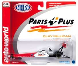 Dragster  - Clay Millican 2019 red/white - 1:64 - Auto World - awsp026 - AWSP026 | Toms Modelautos