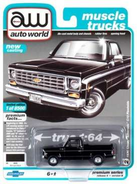 Chevrolet  - Silverado 1975 black - 1:64 - Auto World - SP030B - AWSP030B | Toms Modelautos