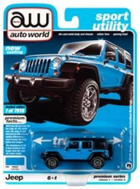 Jeep  - Wrangler 2018 blue/black - 1:64 - Auto World - SP033A - AWSP033A | Toms Modelautos