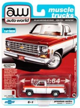 Chevrolet  - Scottsdale 1976 white/red - 1:64 - Auto World - SP034A - AWSP034A | Toms Modelautos
