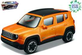 Jeep  - orange - 1:43 - Bburago - 30385 - bura30385sntp | Toms Modelautos