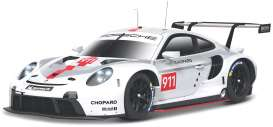 Porsche  - 911 white/grey/red - 1:24 - Bburago - 28013 - bura28013 | Toms Modelautos