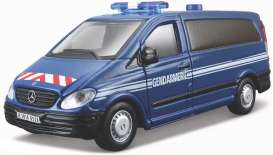 Mercedes Benz  - Vito blue/white/red - 1:50 - Bburago - 32009b - bura32009b | Toms Modelautos
