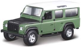 Land Rover  - Defender 110 green/white/black - 1:32 - Bburago - 43029gn - bura43029gn | Toms Modelautos