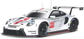 Porsche  - 911 white/grey/red - 1:43 - Bburago - 38048 - bura38048 | Toms Modelautos