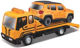 Jeep  - orange/black - 1:43 - Bburago - 31417 - bura31417 | Toms Modelautos