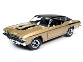 Chevrolet  - Chevelle 1969 gold/black - 1:18 - Auto World - AMM1206 - AMM1206 | Toms Modelautos