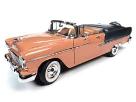 Chevrolet  - Bel Air 1955 coral/grey - 1:18 - Auto World - AMM1221 - AMM1221 | Toms Modelautos