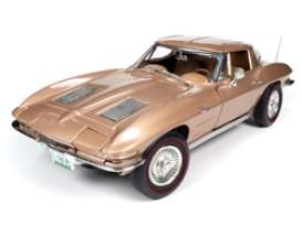 Chevrolet  - Corvette 1963 tan - 1:18 - Auto World - AMM1222 - AMM1222 | Toms Modelautos