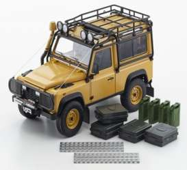 Land Rover  - Defender 90 yellow - 1:18 - Kyosho - 8901CT - kyo8901CTy | Toms Modelautos