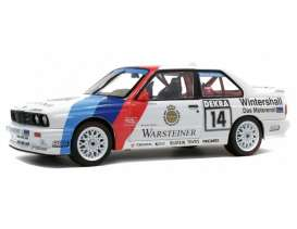 BMW  - M3 white/blue/red - 1:18 - Solido - 1185220 - soli1185220 | Toms Modelautos