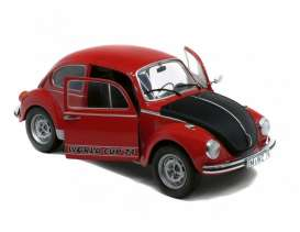 Volkswagen  - Beetle  red/black - 1:18 - Solido - 1185240 - soli1185240 | Toms Modelautos