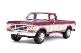 Ford  - F-100 1979 red/creme - 1:24 - Jada Toys - 31586 - jada31586 | Toms Modelautos
