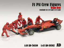Figures diorama - Team Red #1 2020 red - 1:18 - American Diorama - 76550 - AD76550 | Toms Modelautos