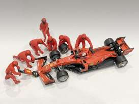 Figures diorama - Team Red #1 2020 red - 1:43 - American Diorama - 38382 - AD38382 | Toms Modelautos