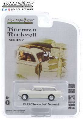 Chevrolet  - Normad 1955 white - 1:64 - GreenLight - 54040B - gl54040B | Toms Modelautos