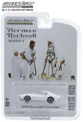 Chevrolet  - Corvette 1971 white - 1:64 - GreenLight - 54040E - gl54040E | Toms Modelautos