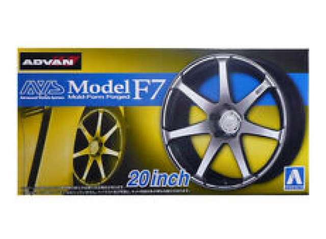 """Aoshima 1//24 Rim /& Tire Set 82 AVS Model F7 20/"""" 05516"""