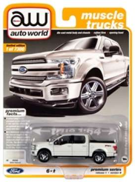 Ford  - F150 2018 white - 1:64 - Auto World - SP032B - AWSP032B | Toms Modelautos