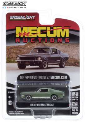 Ford  - Mustang 1968 green/grey - 1:64 - GreenLight - 37210A - gl37210A | Toms Modelautos