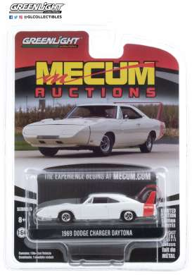 Dodge  - Charger 1969 white/red - 1:64 - GreenLight - 37210B - gl37210B | Toms Modelautos