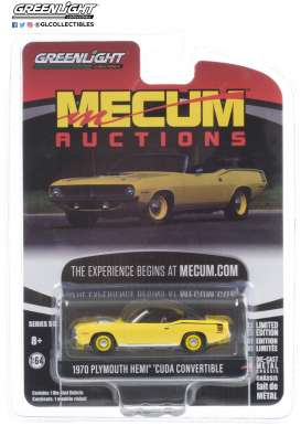 Plymouth  - HEMI Cuda 1970 yellow - 1:64 - GreenLight - 37210C - gl37210C | Toms Modelautos