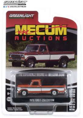 Ford  - F-250 1978 orange/white - 1:64 - GreenLight - 37210F - gl37210F | Toms Modelautos