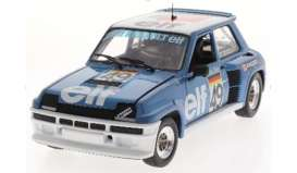 Renault  - 5 Turbo 1981 blue/white - 1:18 - Solido - 1801307 - soli1801307 | Toms Modelautos
