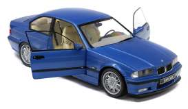 BMW  - E36 Coupe M3 1990 blue - 1:18 - Solido - 1803901 - soli1803901 | Toms Modelautos