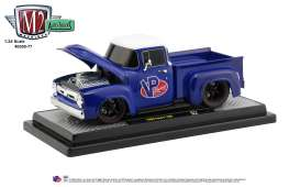 Ford  - F100 1956 blue/white - 1:24 - M2 Machines - 40300-77A - M2-40300-77A | Toms Modelautos