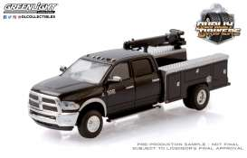 Ram  - 3500 2018 black - 1:64 - GreenLight - 46050B - gl46050B | Toms Modelautos