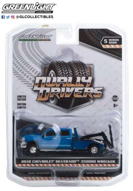 Chevrolet  - Silverado 2018 blue - 1:64 - GreenLight - 46050D - gl46050D | Toms Modelautos